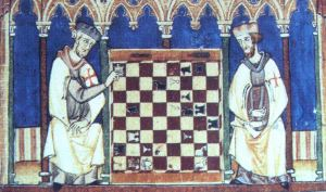 zz old KnightsTemplar Playing Chess year 1283