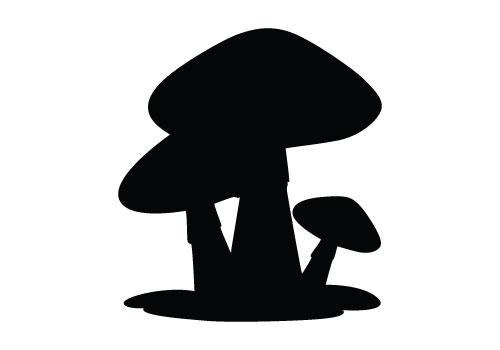 Mushroom-silhouette-vector